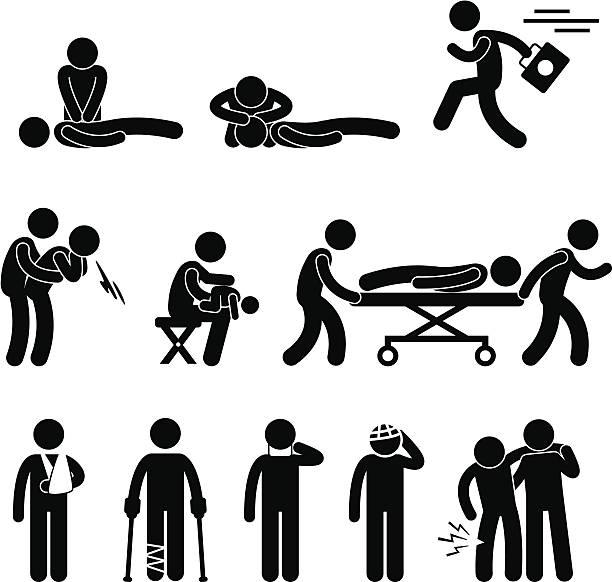 最初の援助救助緊急ヘルプ pictogram - 救急救命士点のイラスト素材/クリップアート素材/マンガ素材/アイコン素材