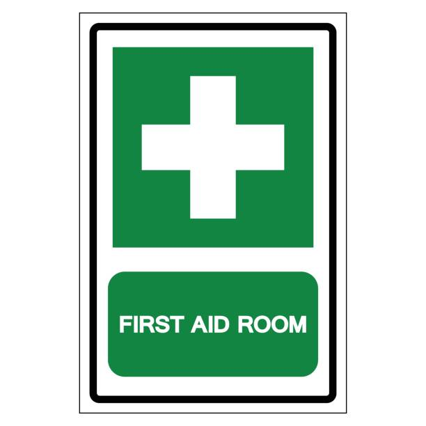 First Aid Room Symbol Sign, Vector Illustration, Isolated On White Background Label .EPS10 vector art illustration