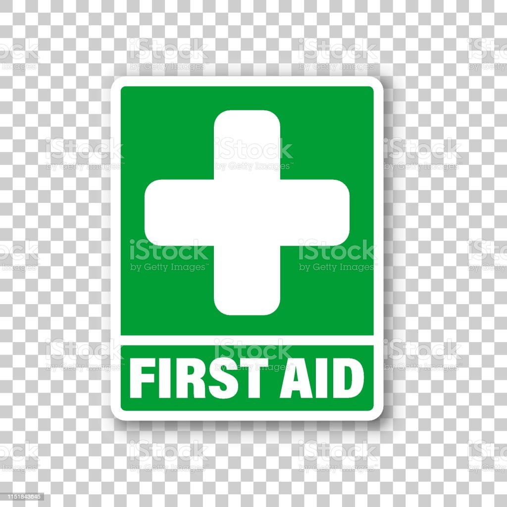 First Aid Sign Icon In Transparent Style Health Help And Medical