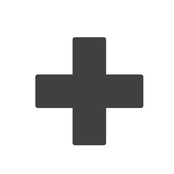 first aid sign icon vector design - first aid stock illustrations