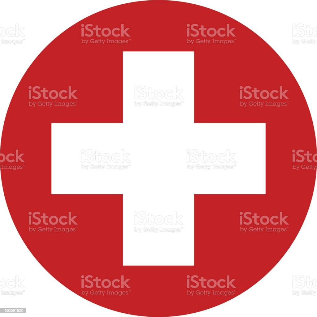 First aid sign icon vector design vector art illustration