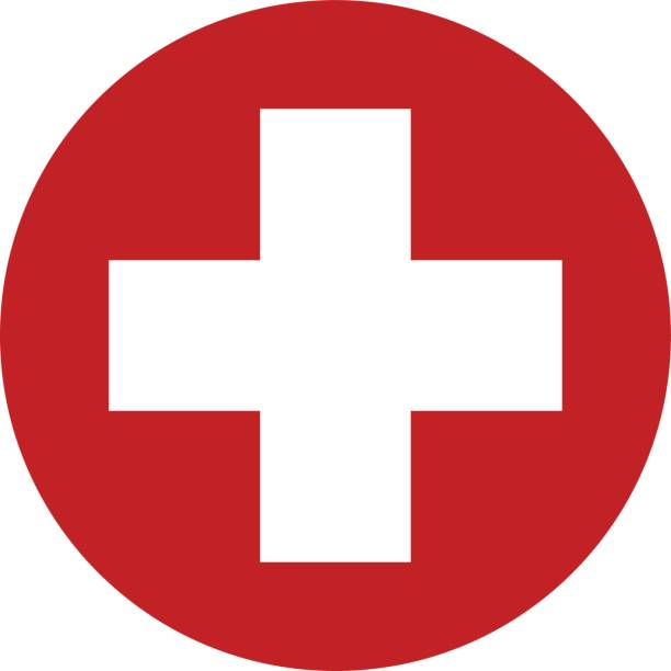 first aid sign icon vector design - first aid stock illustrations, clip art, cartoons, & icons