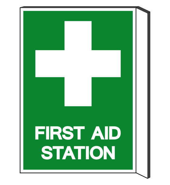 First Aid Station Symbol Sign, Vector Illustration, Isolated On White Background Label .EPS10 vector art illustration