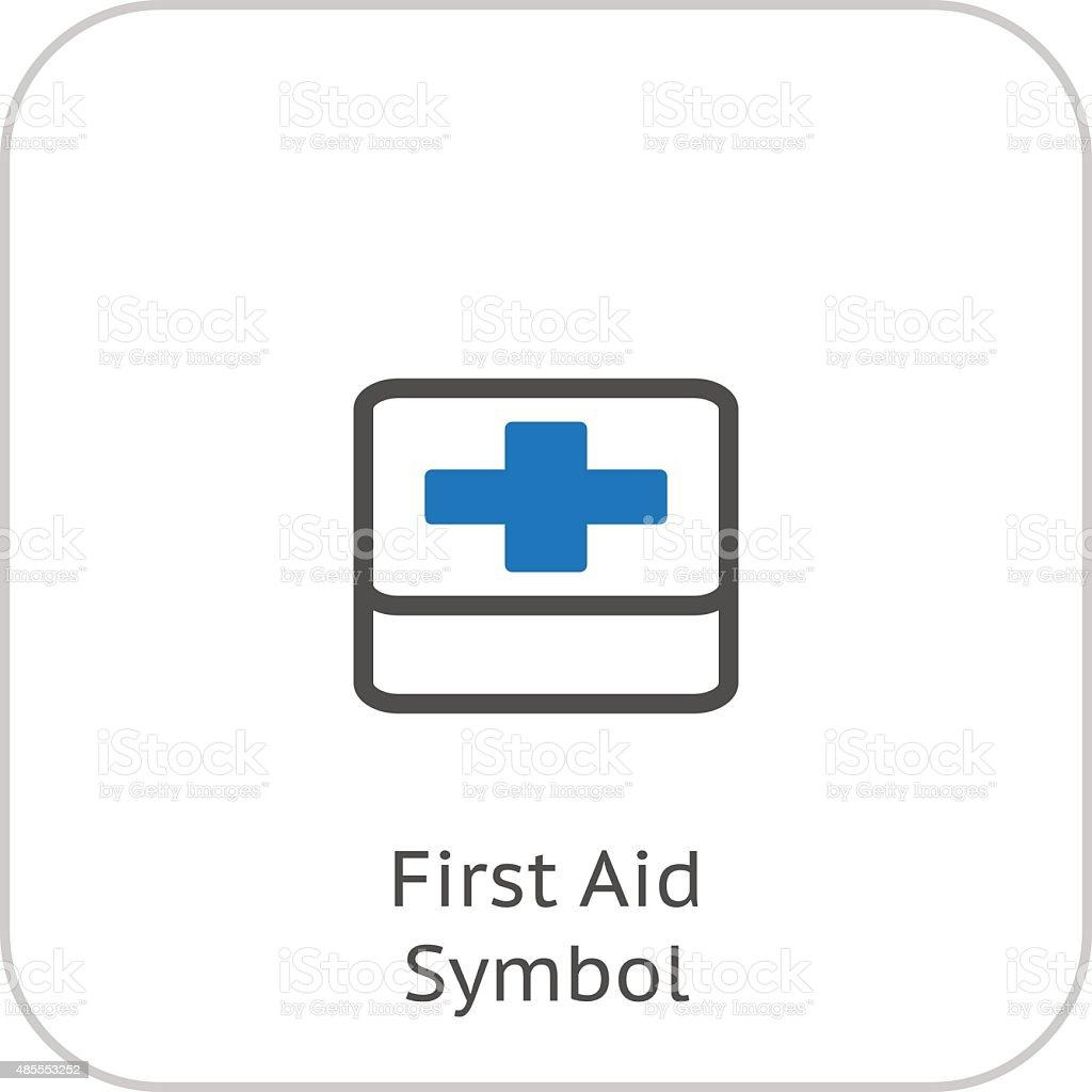 Simbolo Di Primo Soccorso E Servizi Medici Icona Flat Design