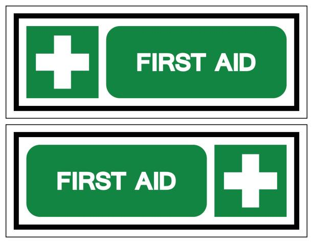 First Aid Symbol Sign, Vector Illustration, Isolated On White Background Label .EPS10 vector art illustration
