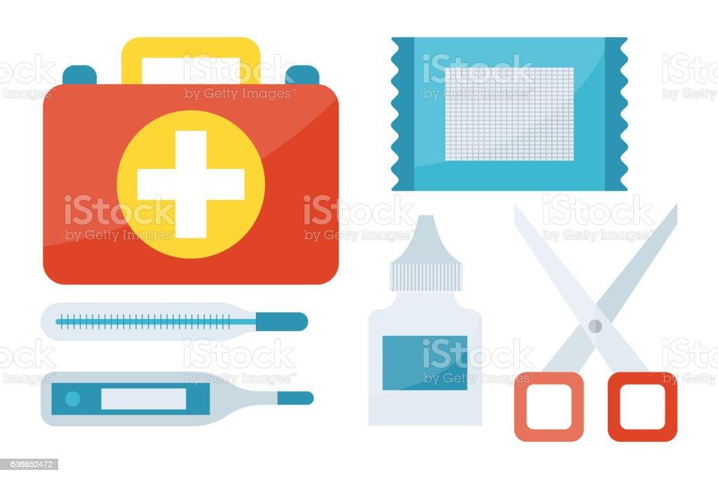 First aid symbols vector illustration. vector art illustration