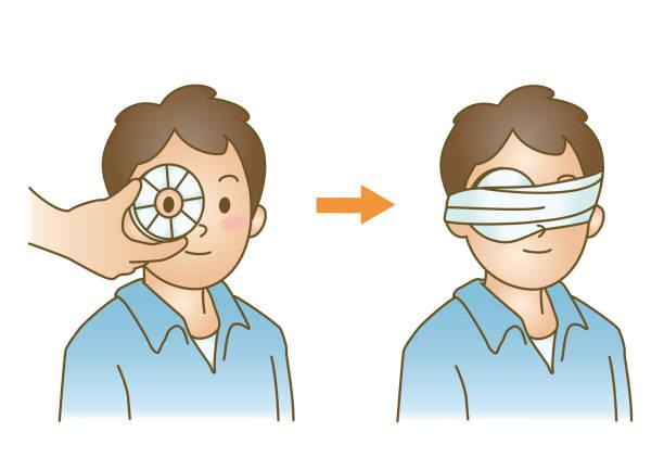 ilustrações de stock, clip art, desenhos animados e ícones de first aid - going inside eye