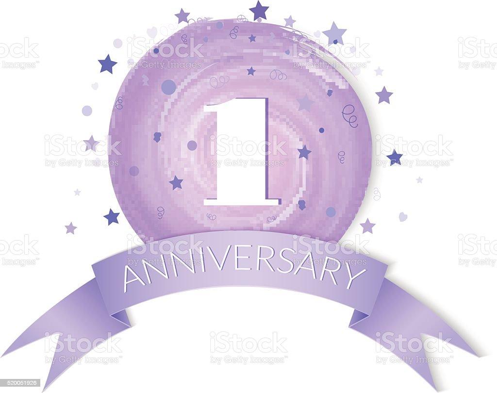 First anniversary celebration vector stock vector art more