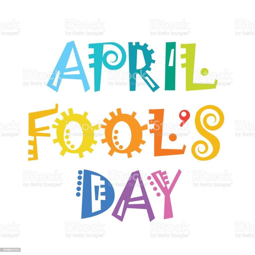 First April Fool Day Happy Holiday Greeting Card vector art illustration