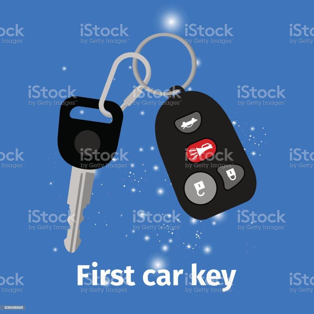 Vector Key Illustration: First Car Key Illustration Stock Vector Art & More Images