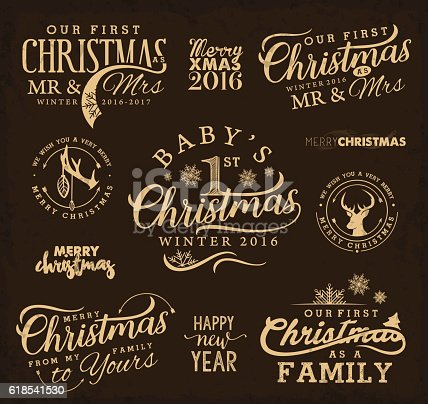 First Christmas As Family Baby Mr Mrs Christmas Design Elements