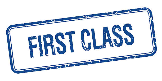 Best First Class Stamp Illustrations, Royalty-Free Vector