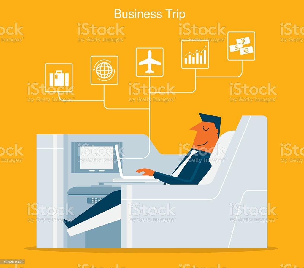 Primera clase de pasajeros - ilustración de arte vectorial