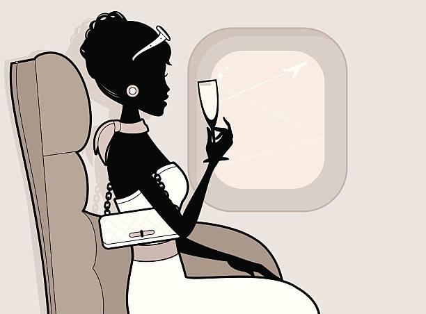 Reisen in der ersten Klasse – Vektorgrafik