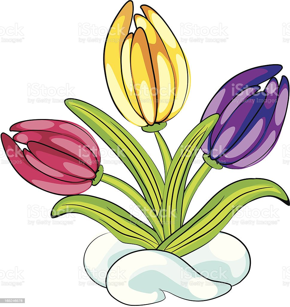 First flowers royalty-free stock vector art