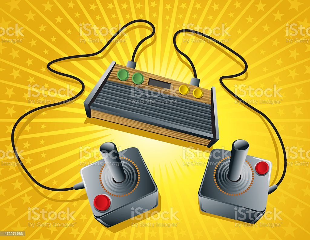 First generation of gaming retro console royalty-free stock vector art