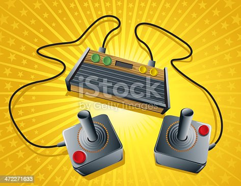 istock First generation of gaming retro console 472271633