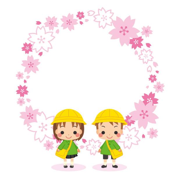 illustrazioni stock, clip art, cartoni animati e icone di tendenza di bambino di prima elementare all'asilo - two students together asian