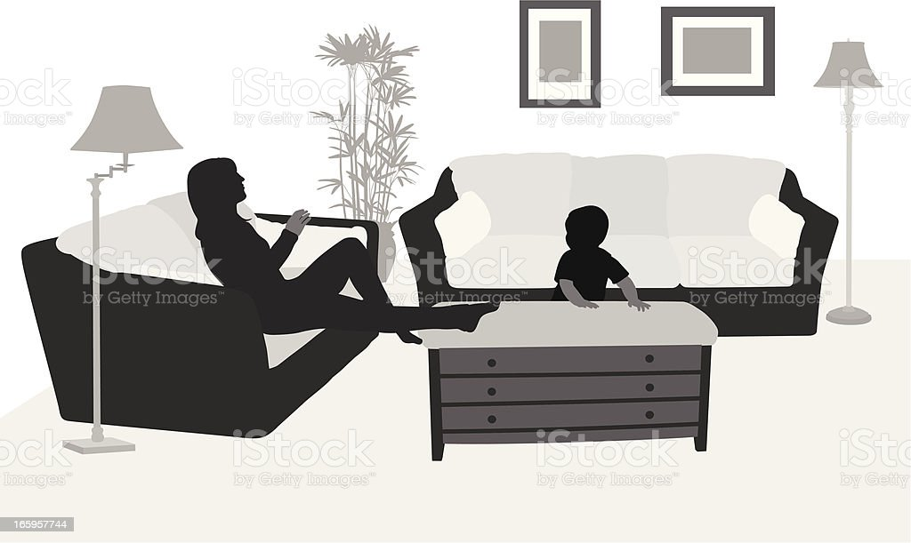 First Home Vector Silhouette royalty-free stock vector art