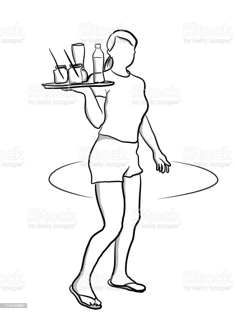 First job as a waitress