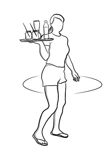 First Job Waitress
