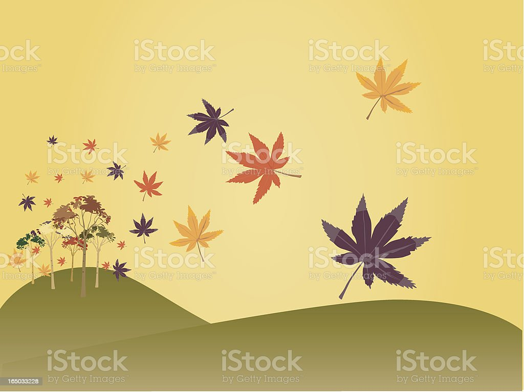 First Leaves of Fall royalty-free stock vector art