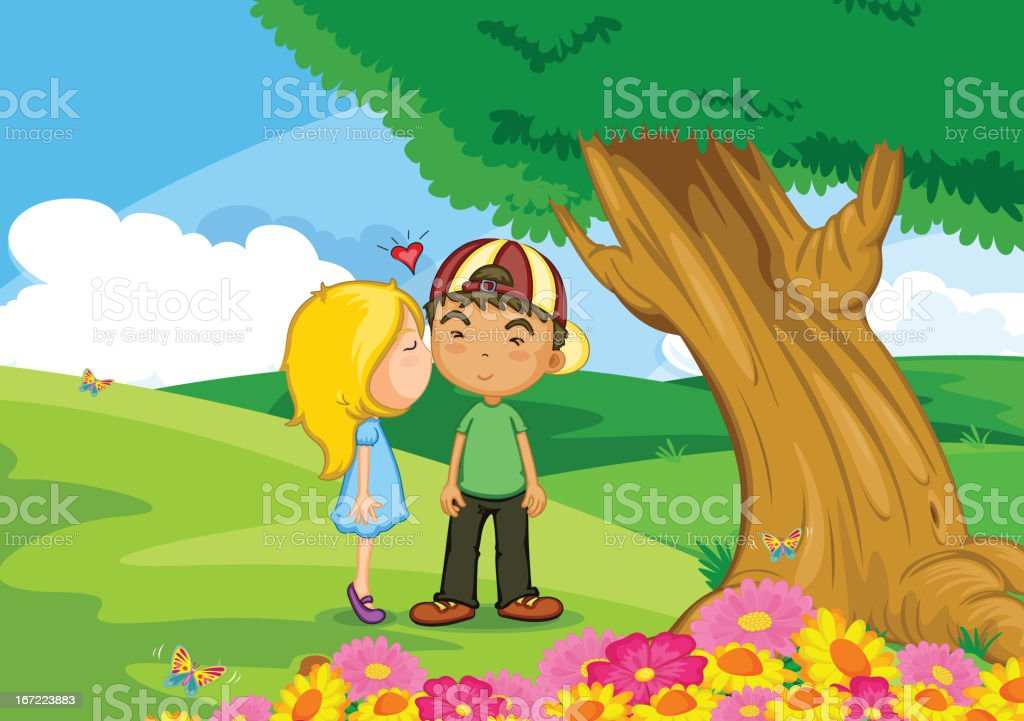 First love royalty-free first love stock vector art & more images of cheek