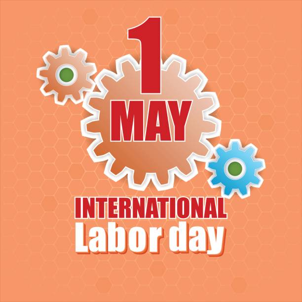 first may international labor day - may day stock illustrations, clip art, cartoons, & icons