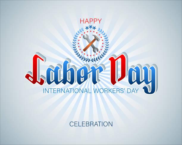 Première mai, célébration de la journée internationale des travailleurs - Illustration vectorielle