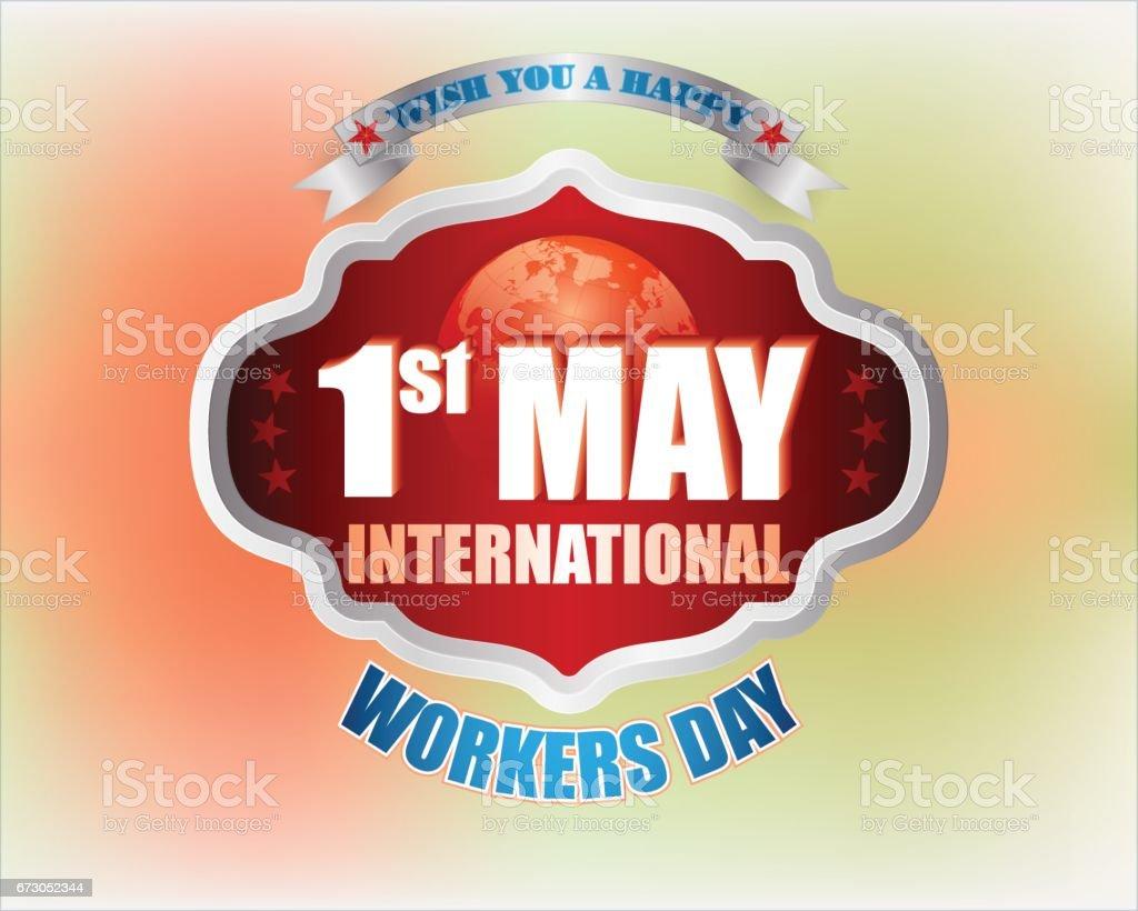 Primer de mayo, día internacional de los trabajadores, vacaciones - ilustración de arte vectorial