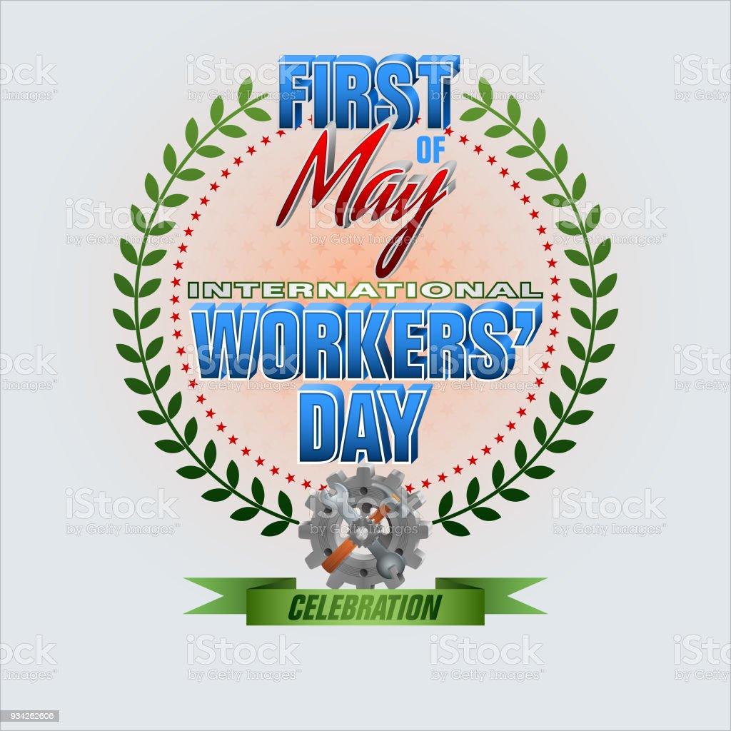 Primero de mayo, día internacional de los trabajadores - ilustración de arte vectorial