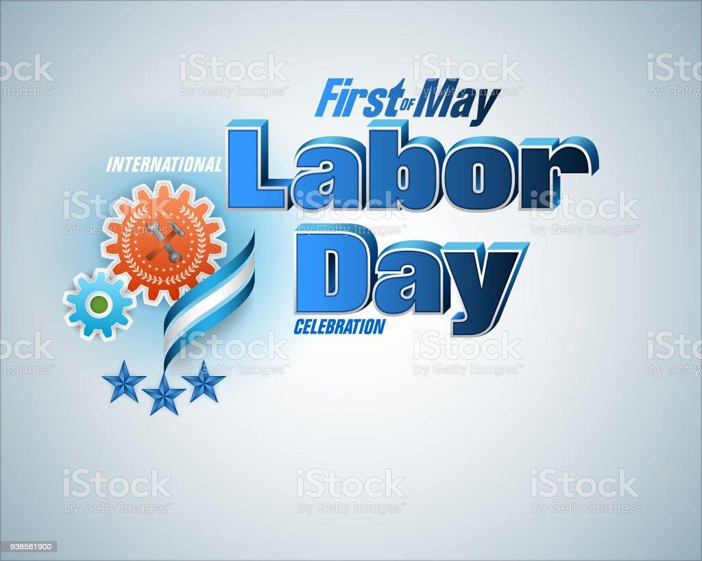 Primero de mayo, celebración del día del trabajo - ilustración de arte vectorial