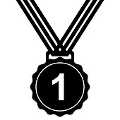 first medal,award icon isolated vector