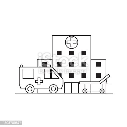 istock First medical aid concept medical icons; in trendy line style isolated on white background for web applications and mobile concepts. Vector illustration 1303709874