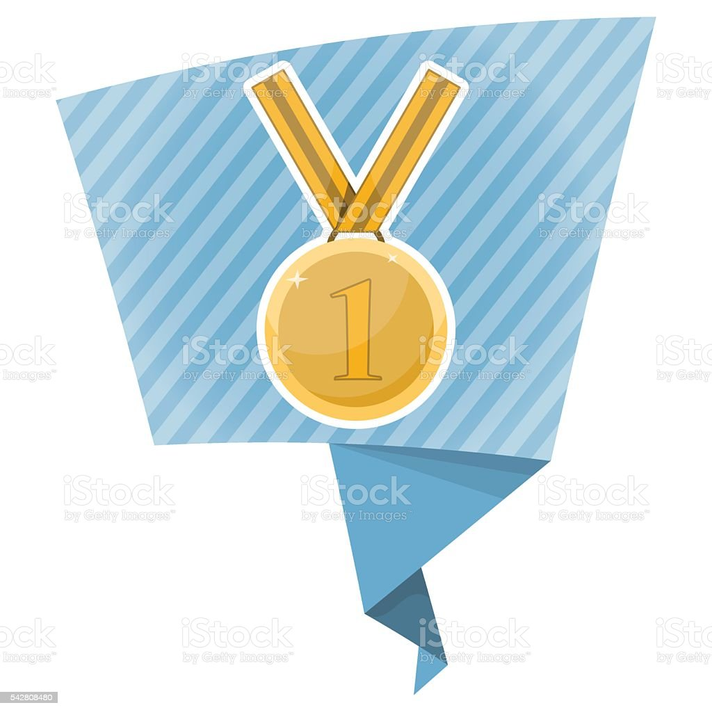 First Place Award Gold Medal Stock Vector Art & More Images