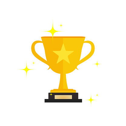 First prize gold trophy icon,prize gold trophy, winner, first prize, vector illustration and icon