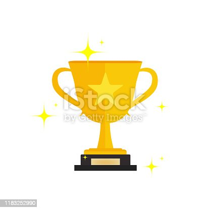 istock First prize gold trophy icon,prize gold trophy, winner, first prize, vector illustration and icon 1183252990