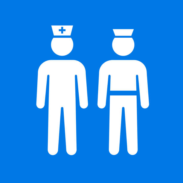 first responders police and medical healthcare icon - first responders stock illustrations
