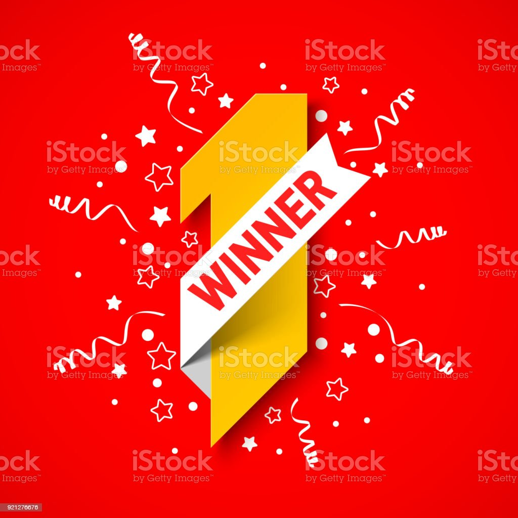 first winner first place banner stock vector art more images of
