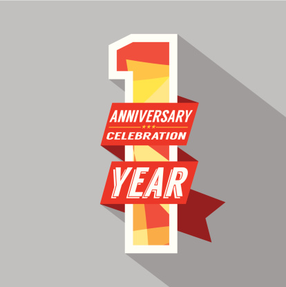 First Year Anniversary Celebration Design Stock Illustration Download Image Now Istock