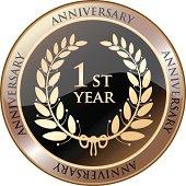 First Year Anniversary Celebration Shield