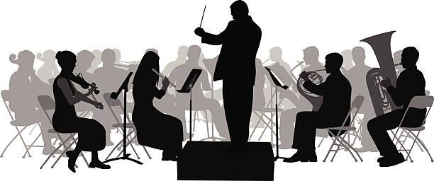 bildbanksillustrationer, clip art samt tecknat material och ikoner med firstviolin - orkester