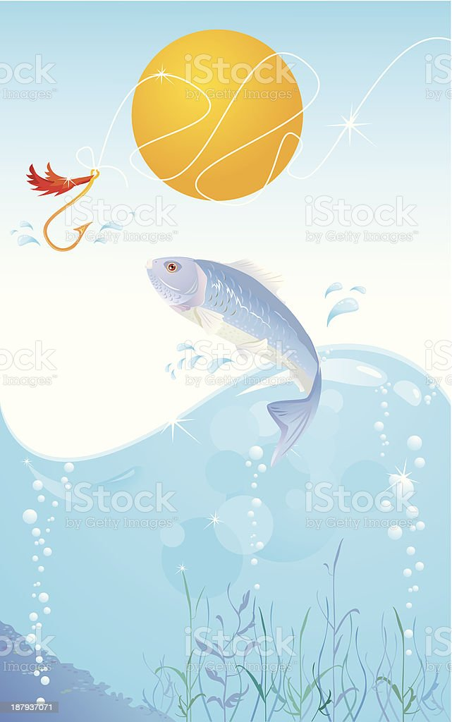 fish and hook royalty-free fish and hook stock vector art & more images of animal wildlife