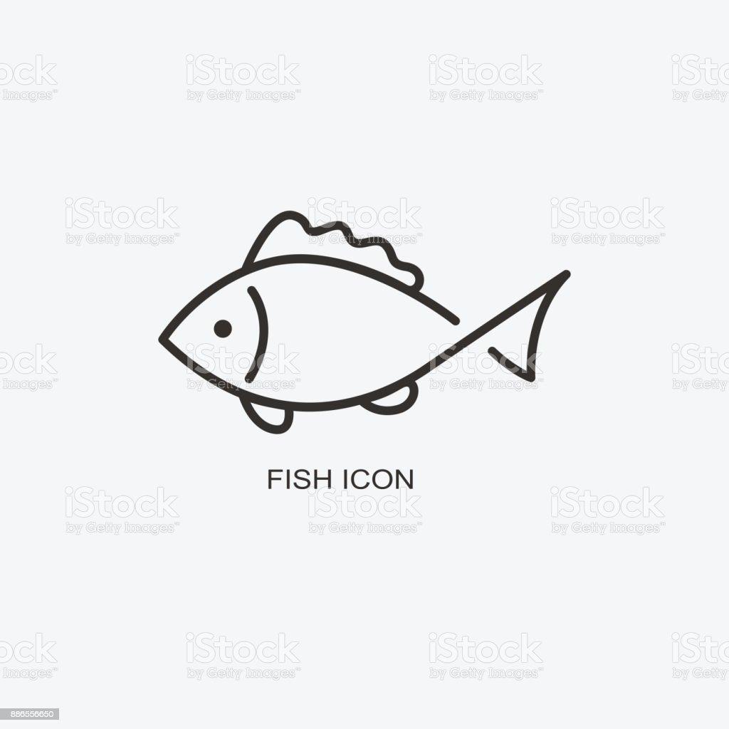 Fisch Tiere Vorlage Fur Design Ikone Der Meeresfruchterestaurant