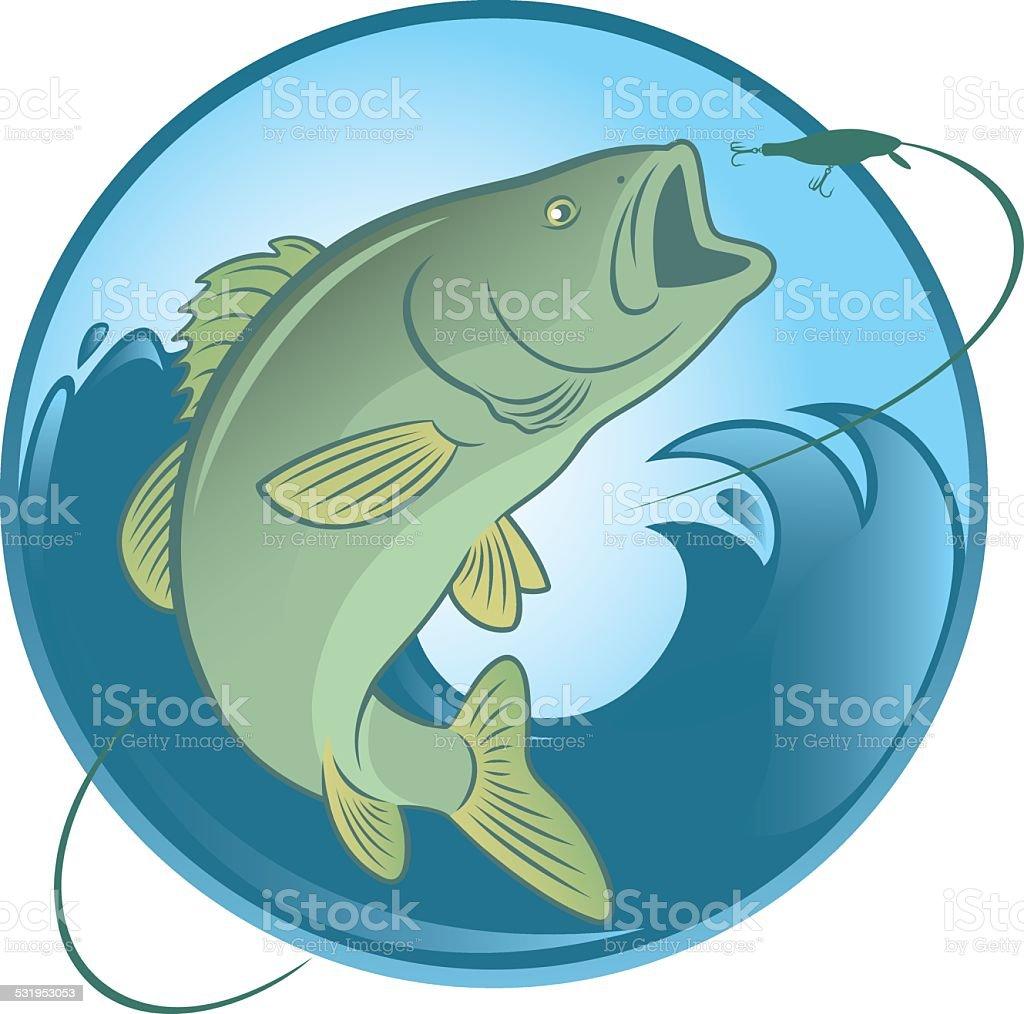Рыба Бас векторная иллюстрация