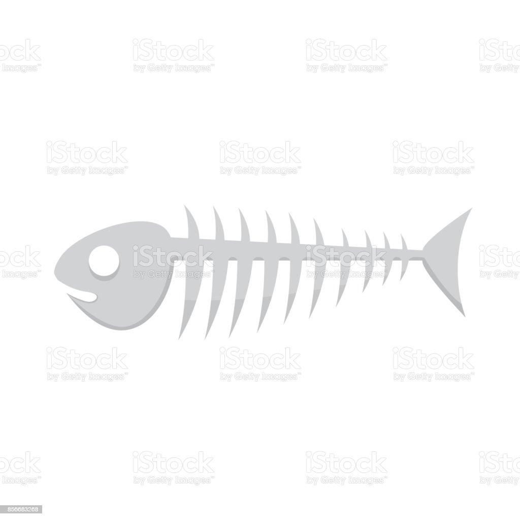 Fish bone vector illustration of skeleton vector art illustration