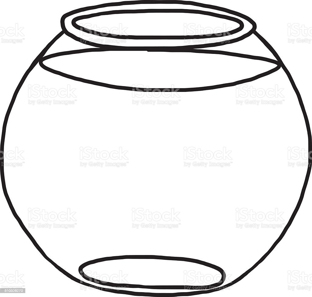 Fish bowl stock vector art more images of art 510326270 for Fish bowl printable