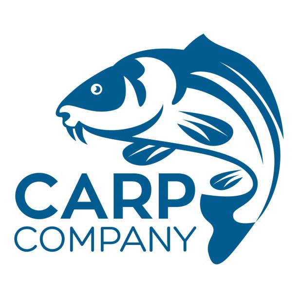 stockillustraties, clipart, cartoons en iconen met vis karper logo - carp