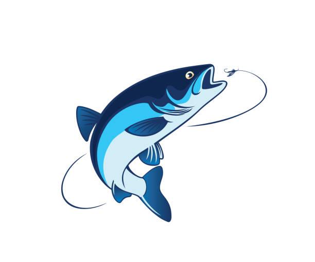 illustrazioni stock, clip art, cartoni animati e icone di tendenza di fish chub - trout