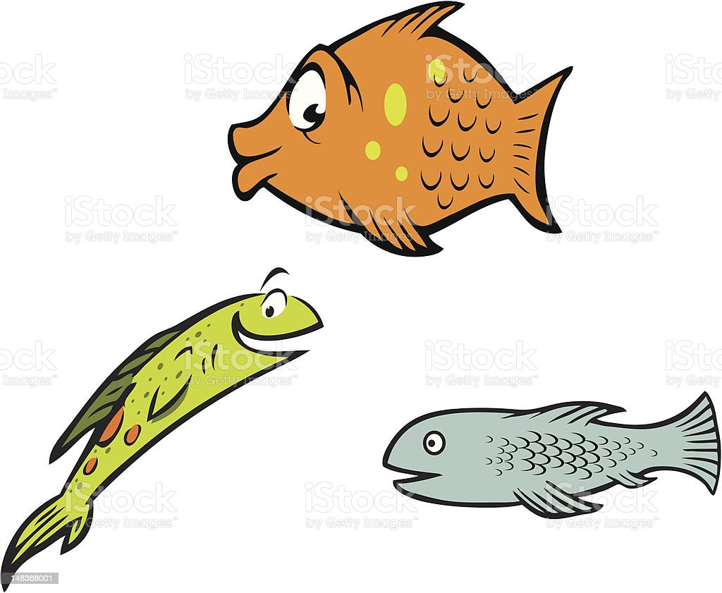 fish collection vector art illustration